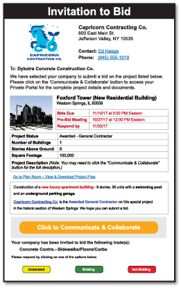 The blue book building construction network proview view a sample invitation to bid stopboris Choice Image