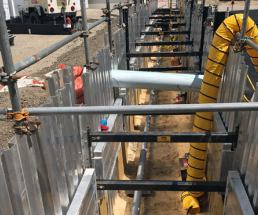 Excavation Contractor Implements Unique Shoring Solution at Nuclear Generation Plant