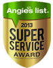 Logo for Angie's List Super Service Award 2013