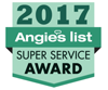 Logo for Angie's List Super Service Award 2017