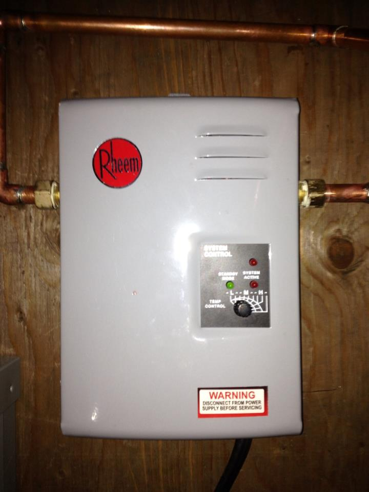 Rheem Electric Tankless Water Heater  - Budget Plumbing & Drain