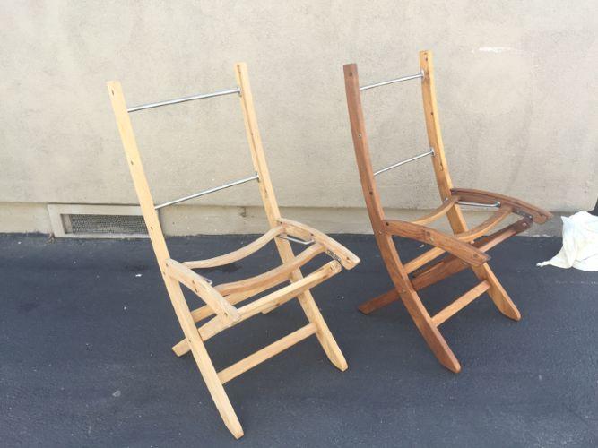 Partnership Painting, Inc. Teak Furniture Restoration