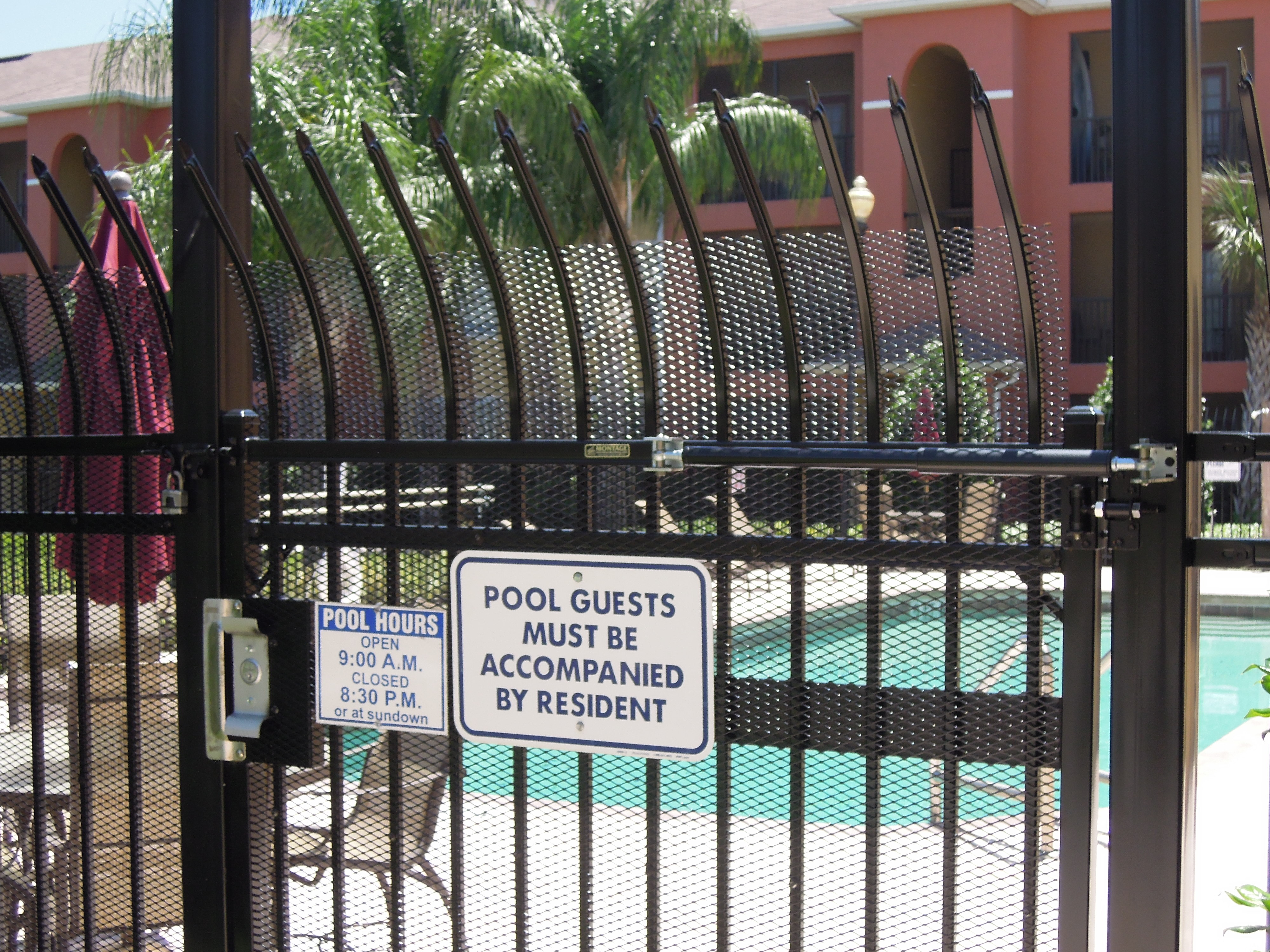 Fence Outlet Commercial Aluminum Pool Entry Gate Image