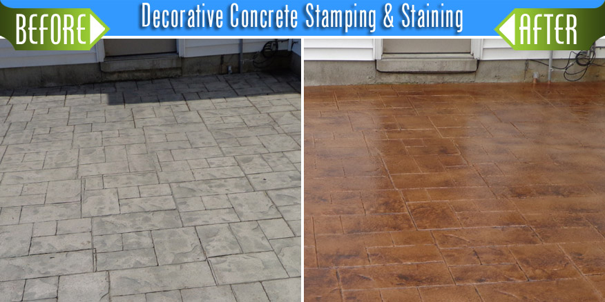 Concrete Floor Stamping and Staining - StoneShine Restoration