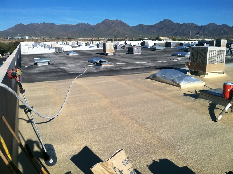 Sprayfoam Roofing Project - R & S Foam Roofing LLC
