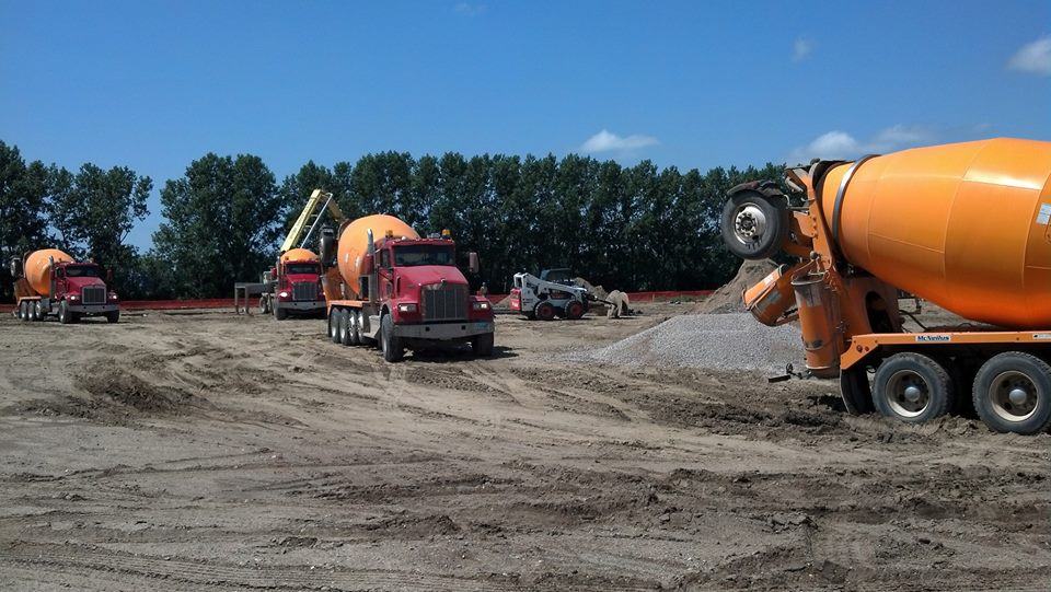 Pouring Concrete at North Dakota USFWS - Yerba Buena Engineering & Construction, Inc.
