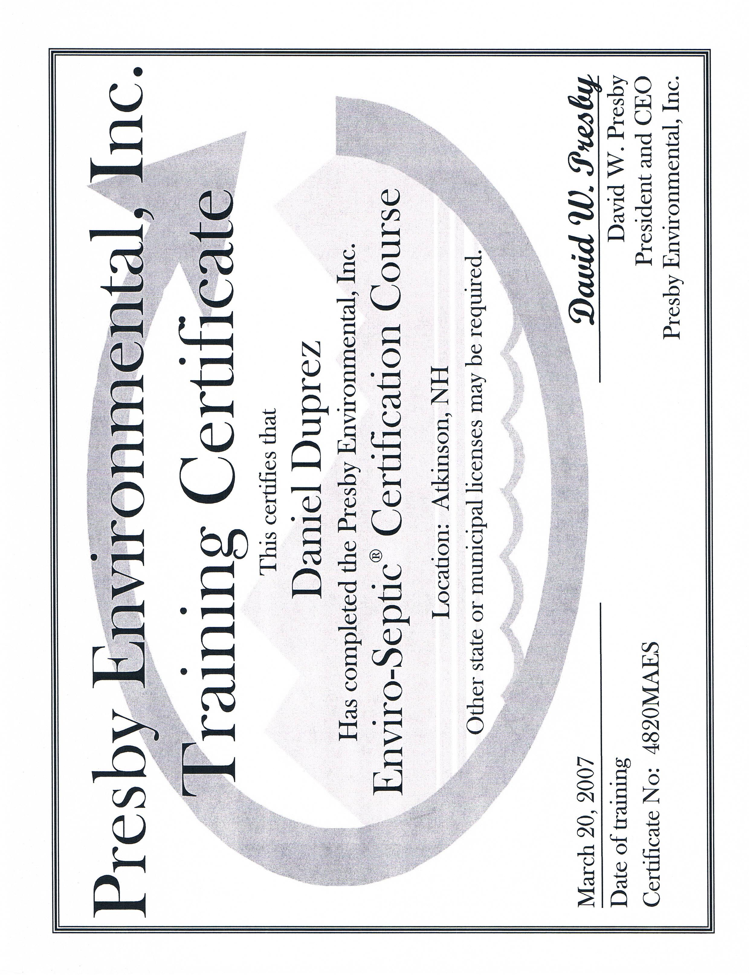 Rodenhiser Excavating Inc Licenses Insurance Bonding