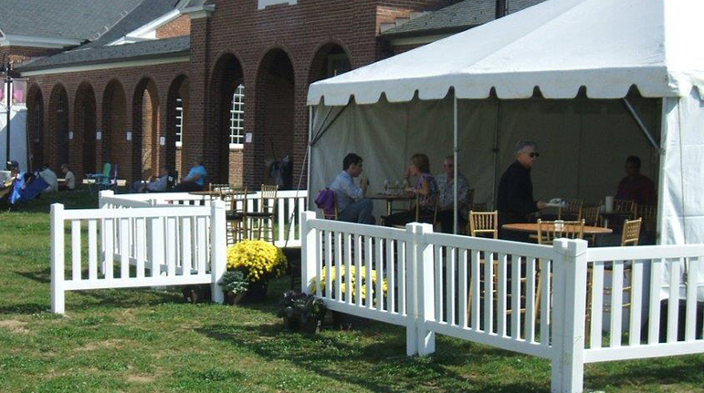 Sonco Event & Construction Rentals - White Vinyl Event Barriers