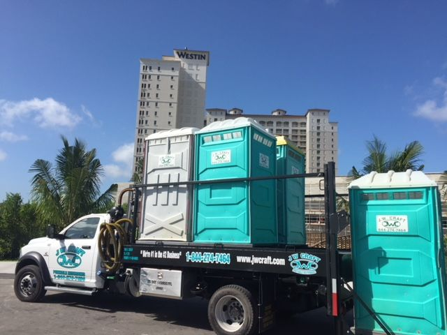 ... Delivering To The Westin Resort   J W Craft Portable Restrooms, Inc.