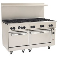Vulcan 10 Burner Range with 2 Standard Ovens (Propane) #60-SS-10B-P  - National Restaurant Supply
