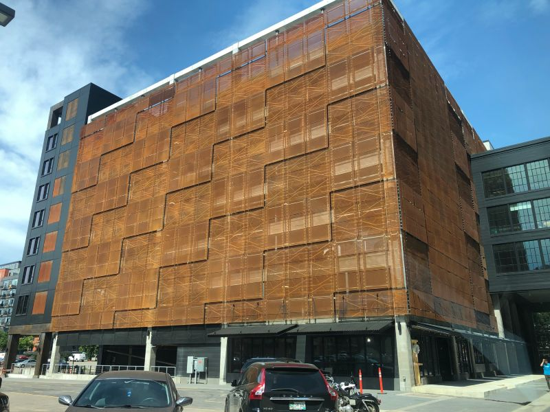 Perforated Weathering Steel Cladding