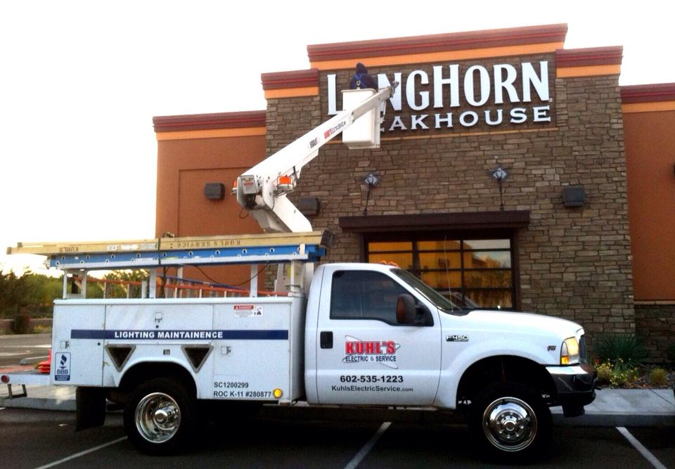 Electrical Projects- Longhorn Steakhouse Restaurant - Kuhl's Electric & Service