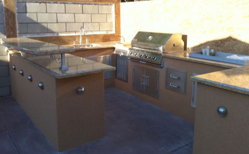 Outdoor Kitchen Barbeque Area - Superior Stone Works