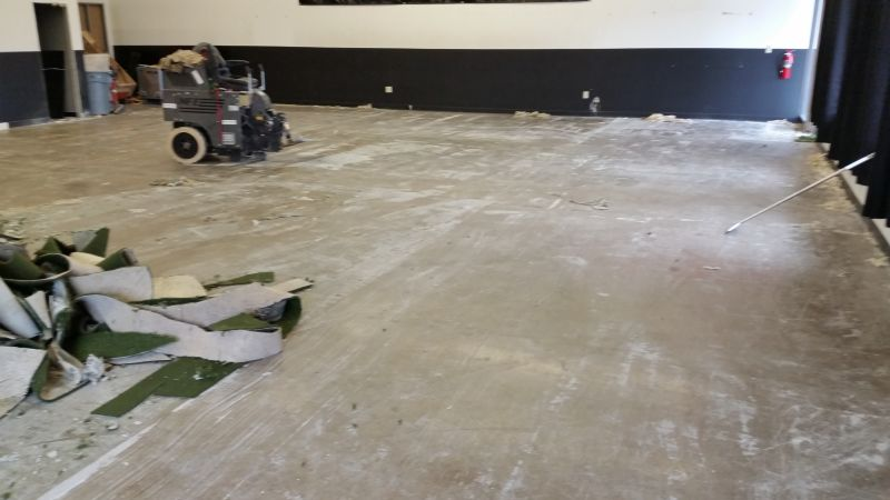 Interior Demolition Service ARTIFICIAL TURF AND ADHESIVE REMOVAL