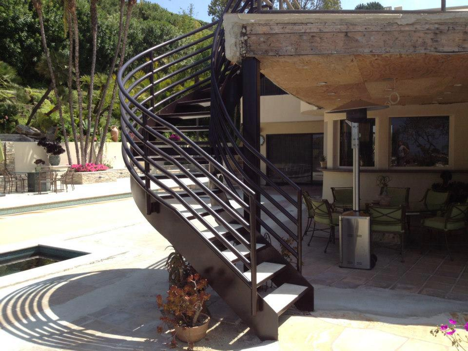 Iron Staircase - Isaac's Ironworks, Inc.