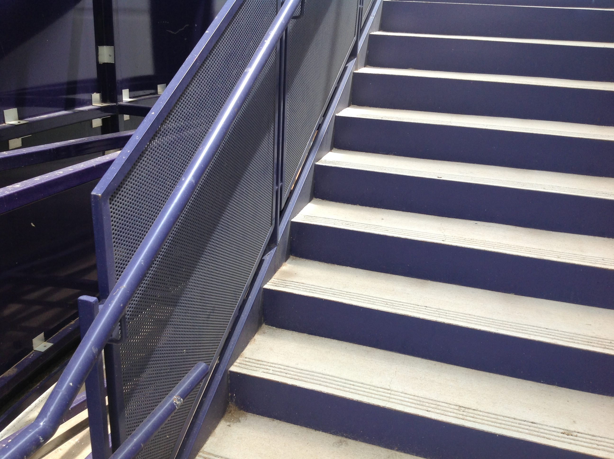 Stair System With Perforated Guardrail Panels
