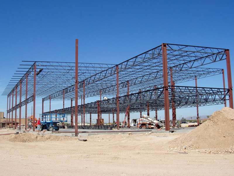 J B Steel Structural Steel Frame With Girders And Bar