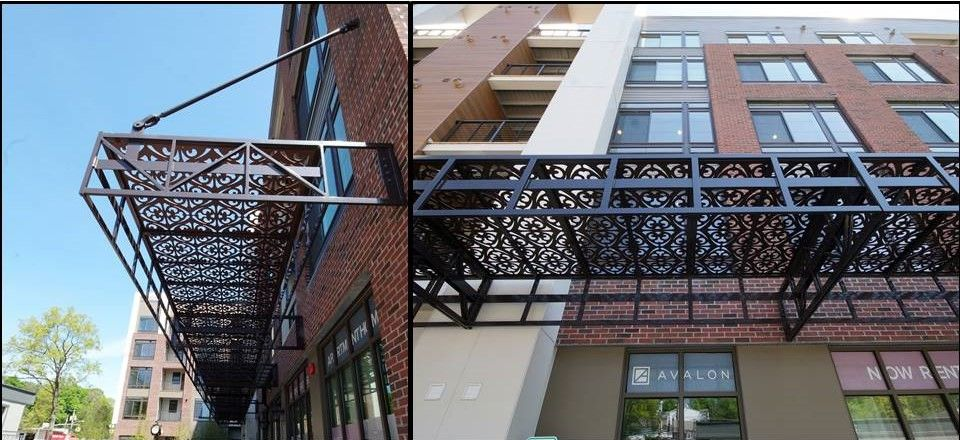 Hudson Awning Sign Co Inc Architectural Canopy Metal Awning Projects Images Proview