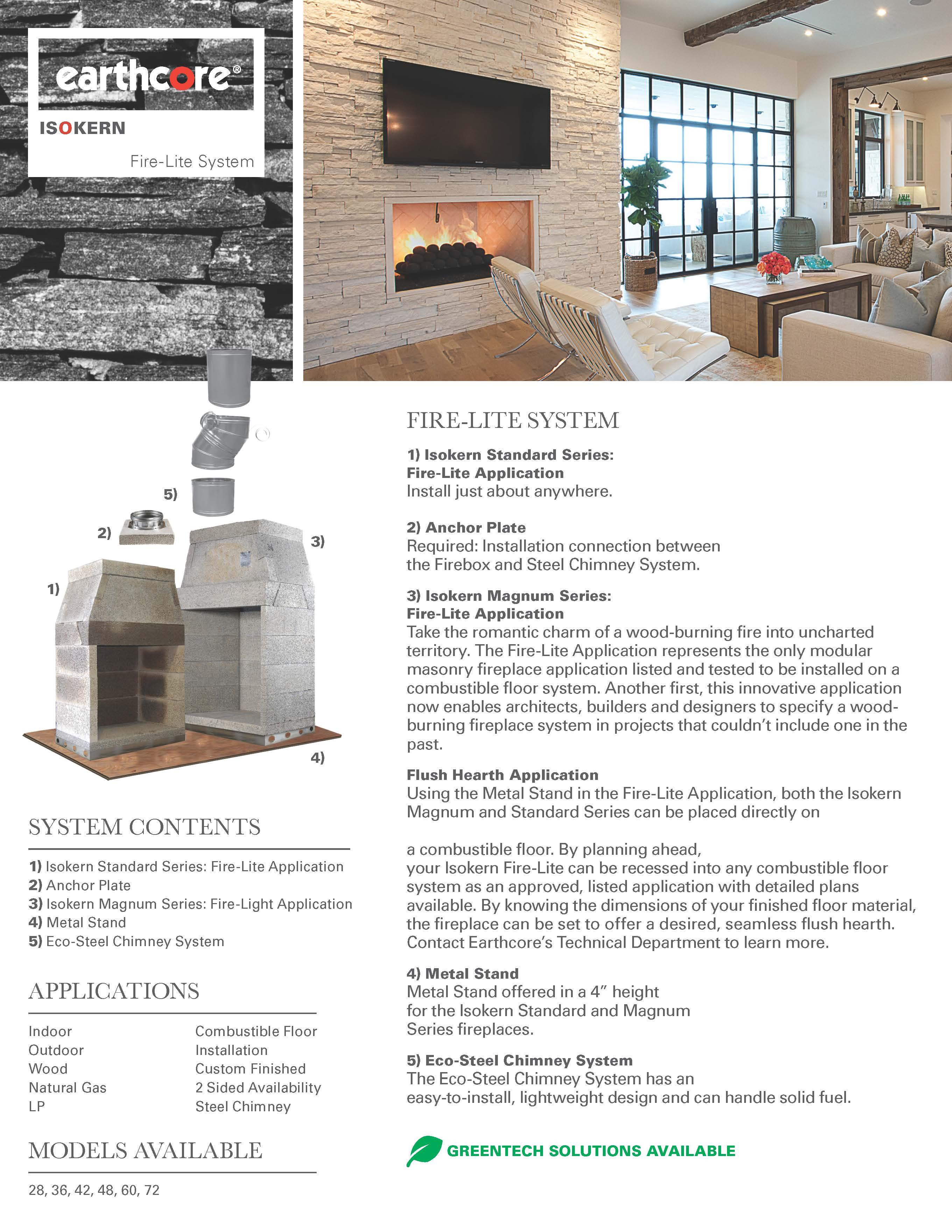 Isokern Masonry Fireplaces Earthcore Industries