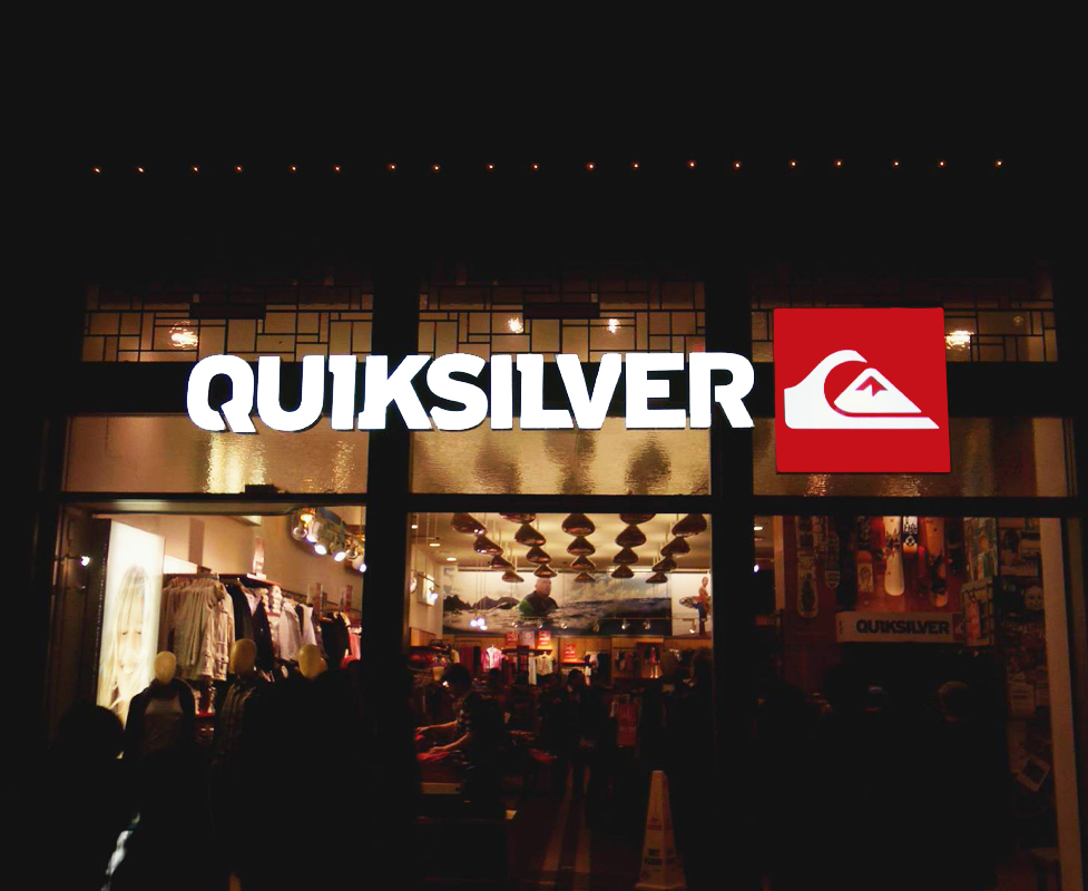 QuickSilver Internally LED Illuminated Channel Letters, Downtown Disney  - In A Bind Signs, Inc.