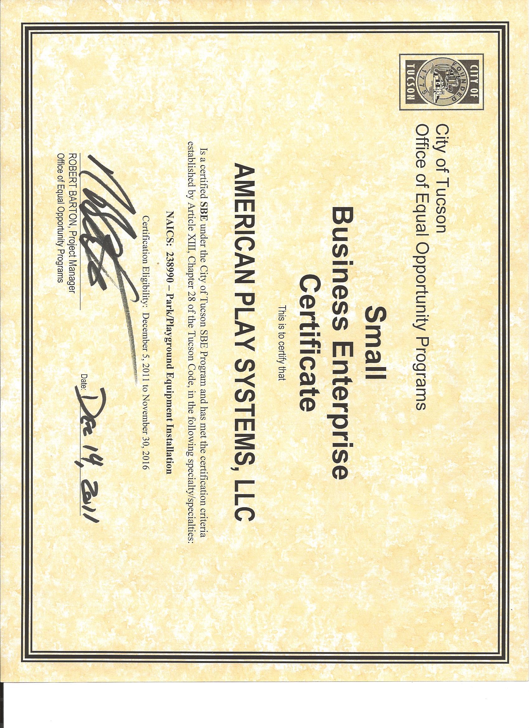 American Play Systems Llc Licenses Insurance Bonding