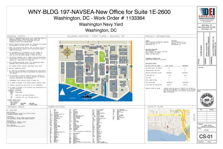 Map Washington Navy Yard Buildings