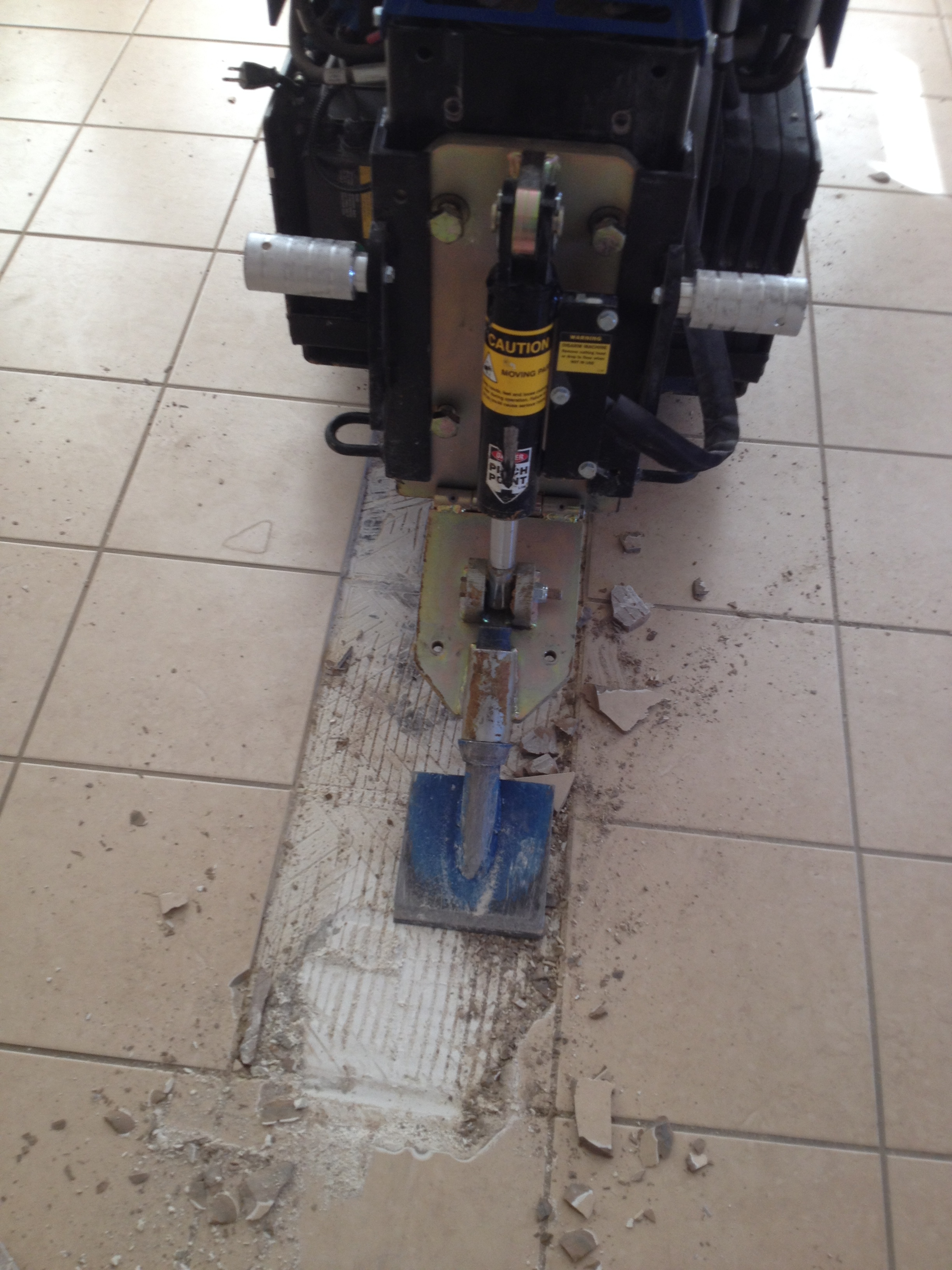 Clean Site Flooring Removal Ceramic Tile Removal Process Image