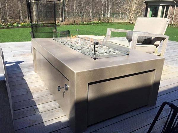 Chicago Concrete Custom Fire Pit Furniture - Chicago Decorative Concrete Co. - Chicago Concrete Custom Fire Pit