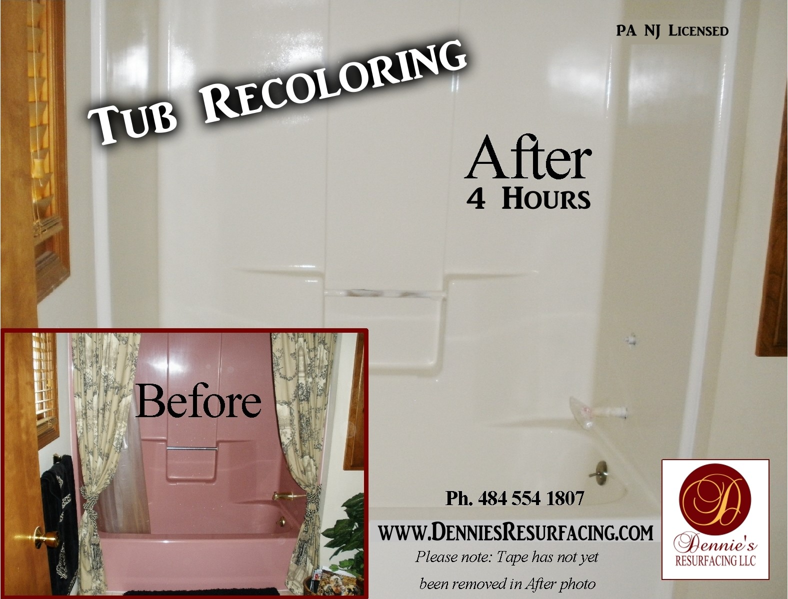 Dennie\'s Resurfacing LLC - Pink Fiberglass Tub & Surround ...