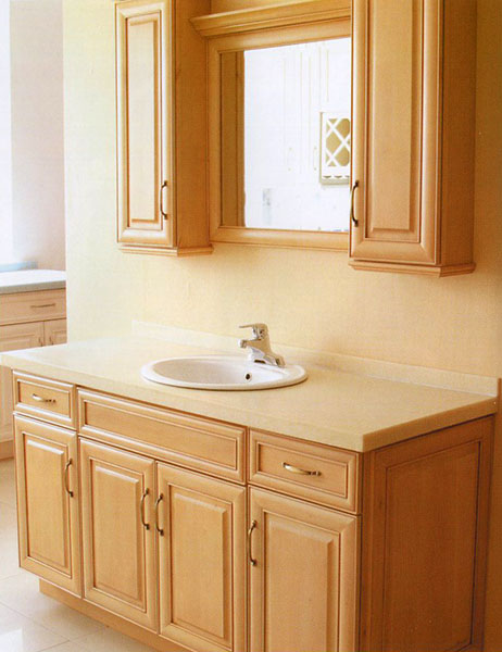 J&K Cabinetry - French Antique Maple Vanity Image | ProView