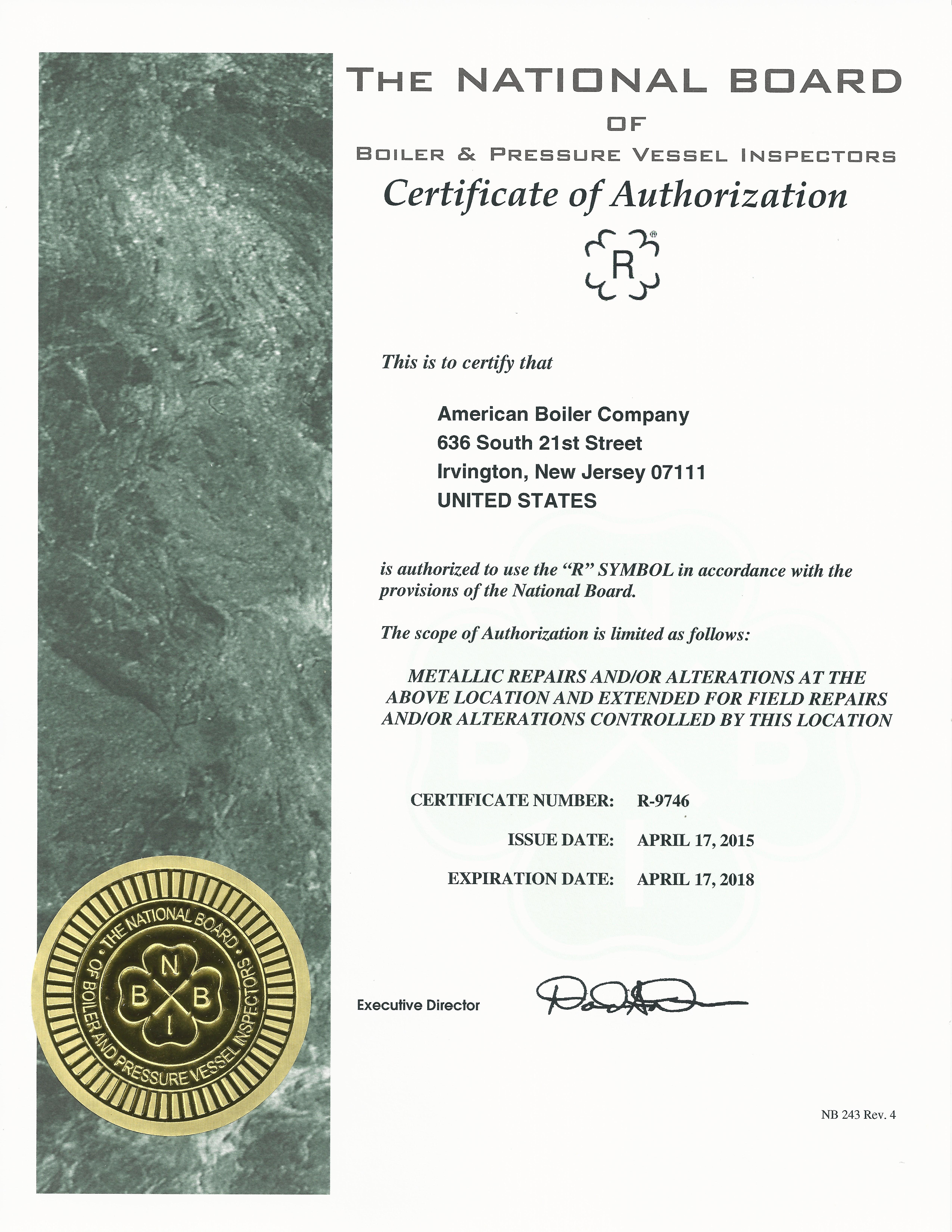 American Boiler Company - Licenses, Insurance, Bonding ...