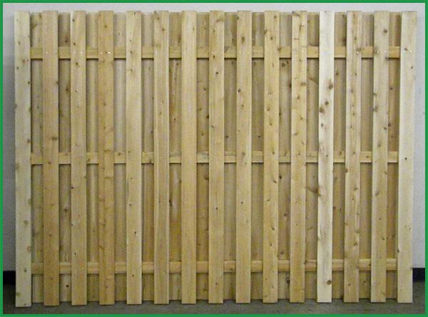 Shannon Gates Inc Cedar Board On Board Fence Image