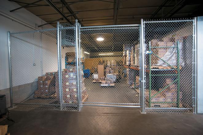Interior Chain Link Enclosure