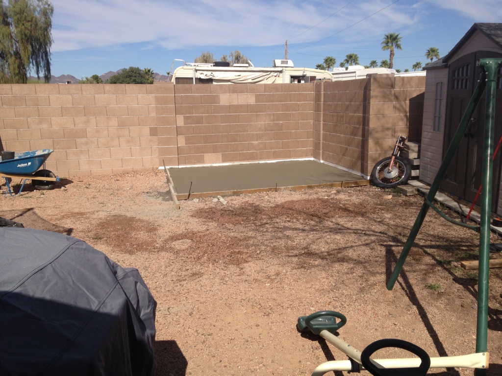 Finishing Concrete (Volunteer Work) - Stronghold Enterprises, LLC