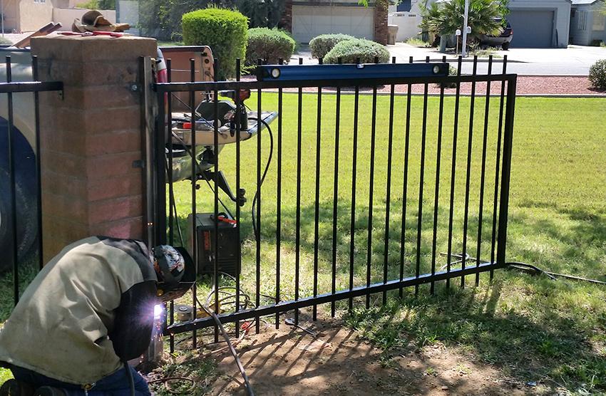 wrought iron installation - ROBERT'S Welding AZ LLC