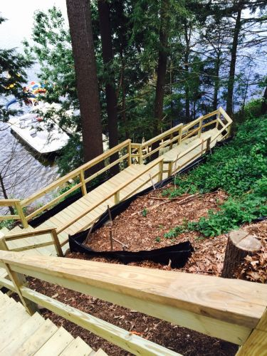 Steep Staircase to Boat Dock by in Westford, MA   ProView