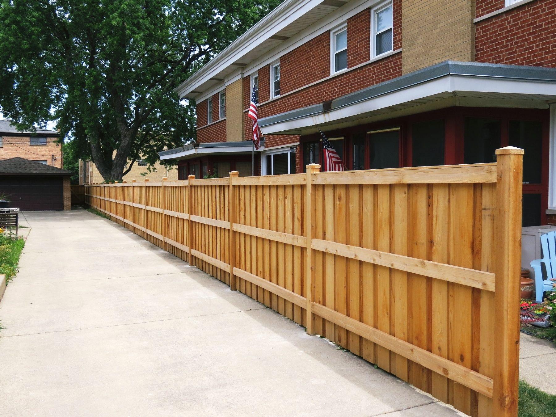 Picture of: Bob Jaacks Rustic Wood Fencing Decks Cedar Board On Batten Solid Top Fence Image Proview