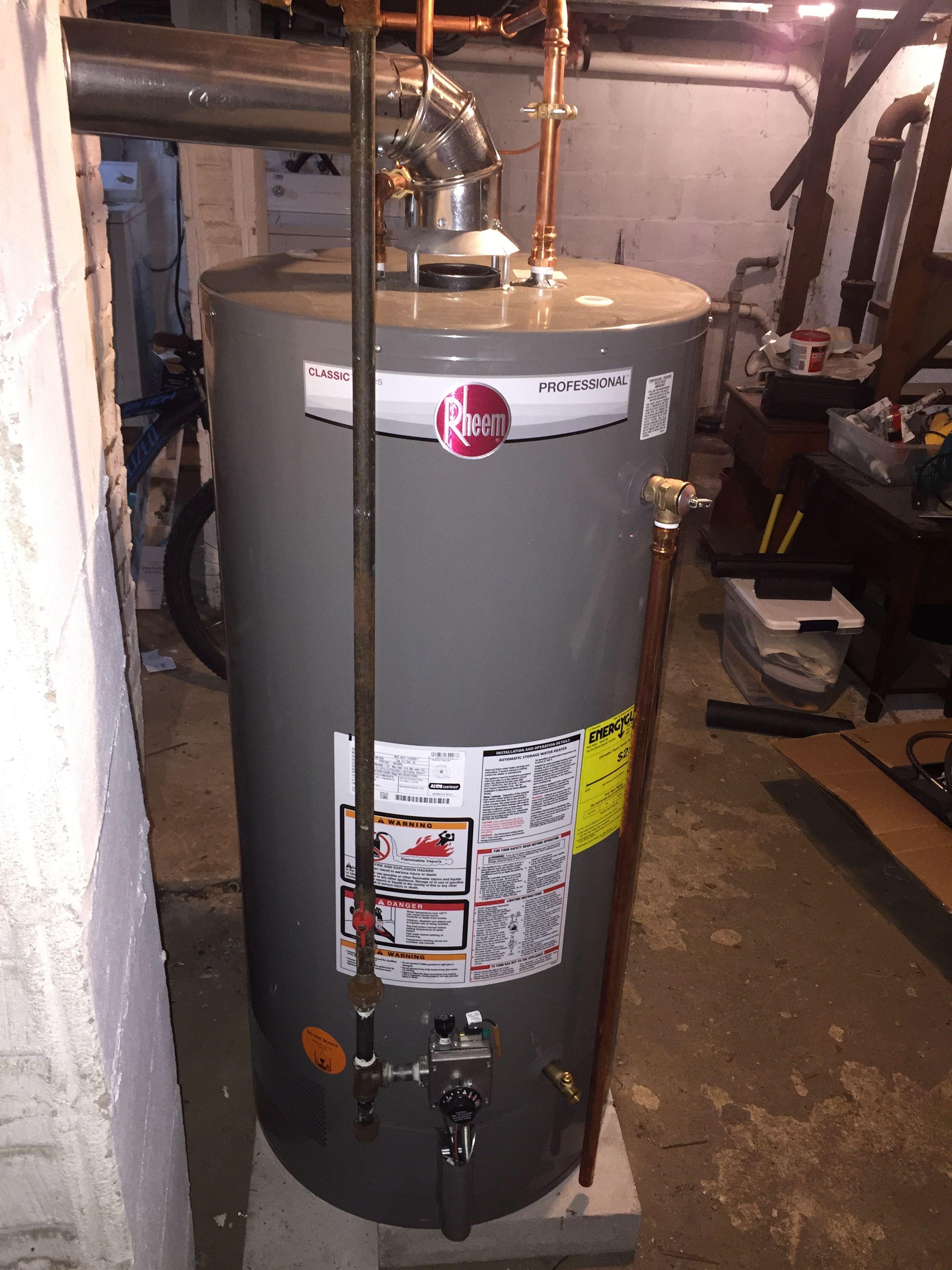 O Gorman Brothers Inc Installed New 50 Gallon Rheem