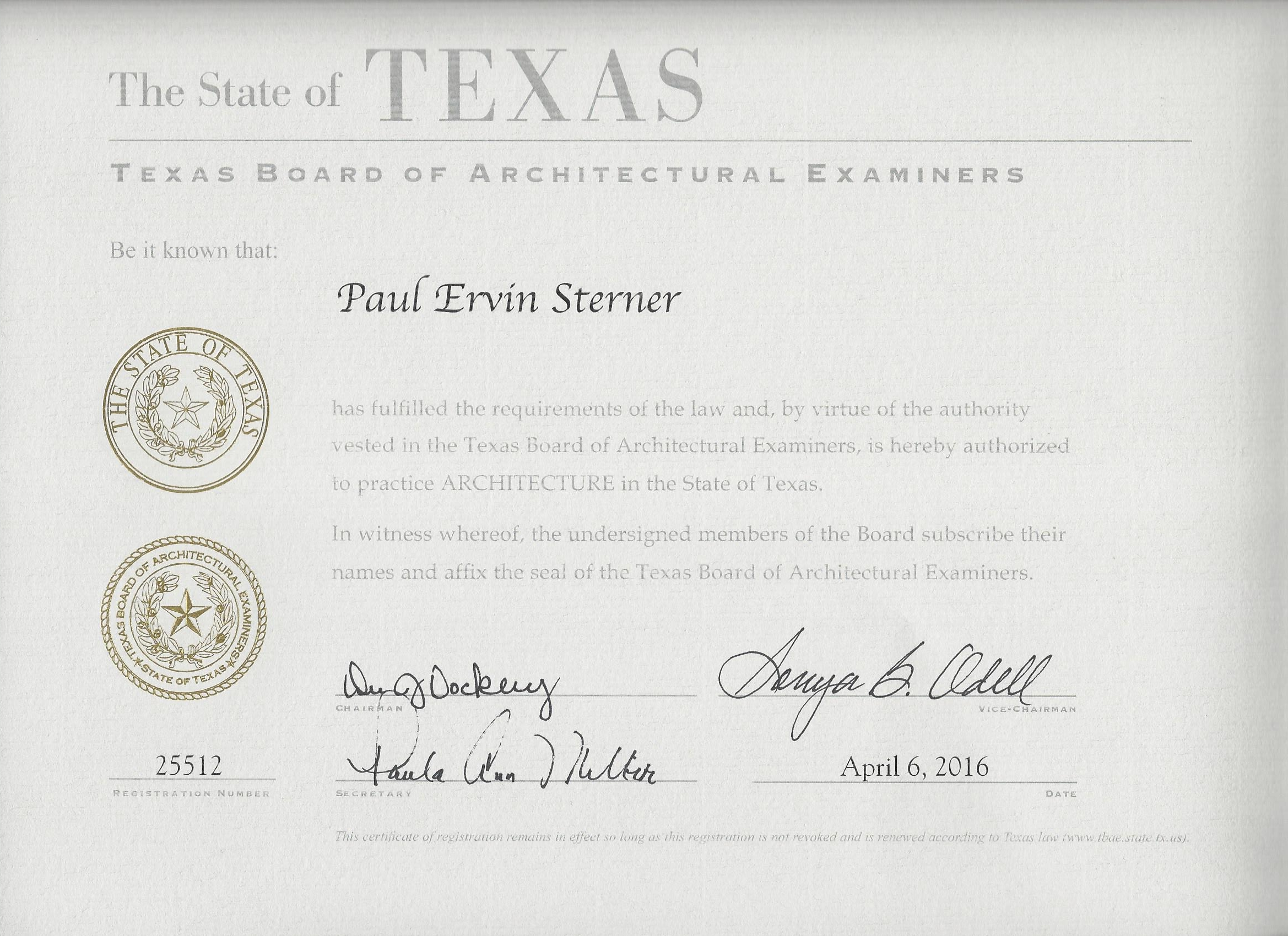 Oculus Architects Licenses Insurance Bonding Certifications