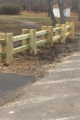 BERLIN PARK TIMBER GUARD RAIL by in , NJ   ProView