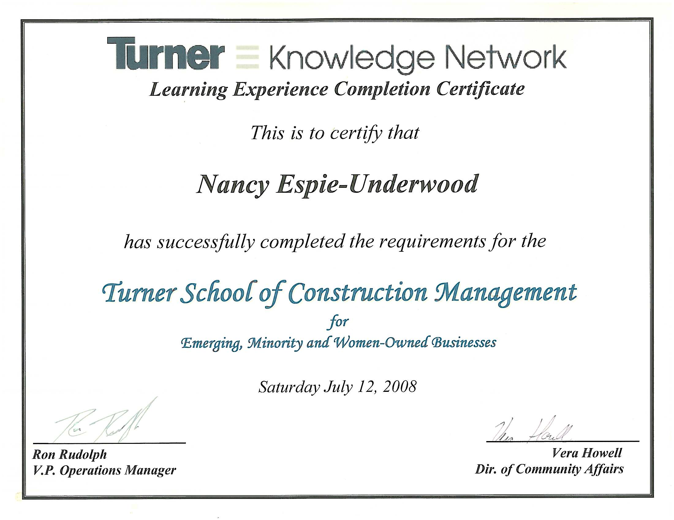 Uge ecs inc licenses insurance bonding certifications emerging minority women owned businesses certification 1betcityfo Images