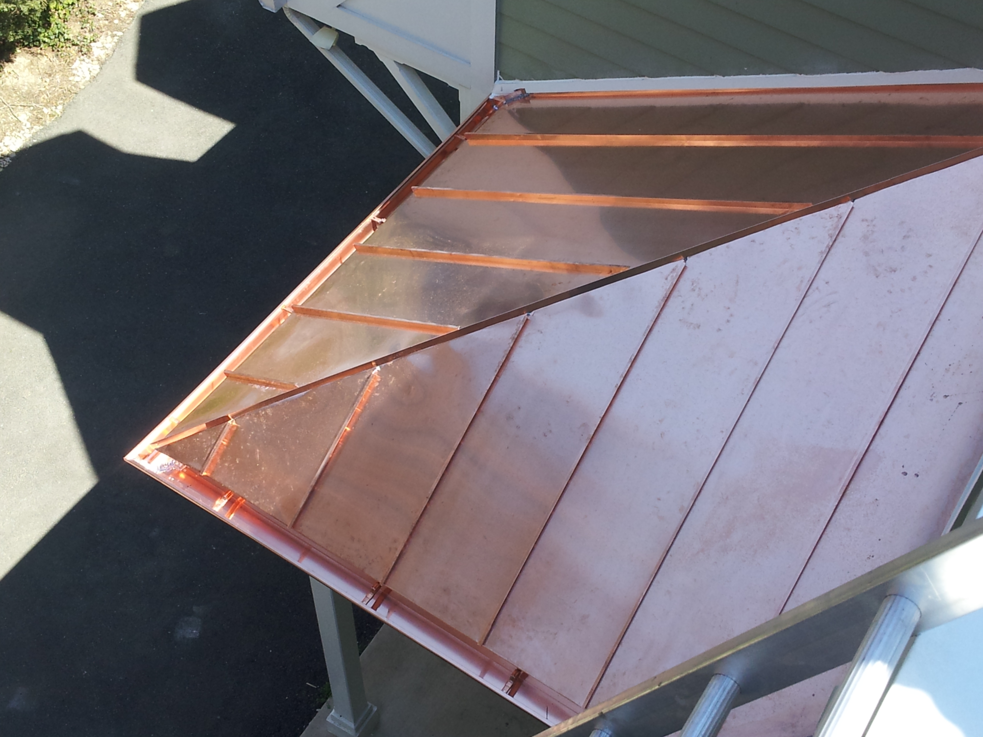 Corley roofing sheet metal co inc video image for Copper standing seam roof