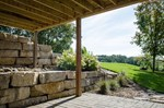 Natural Stone Retaining Wall - Northland Excavating