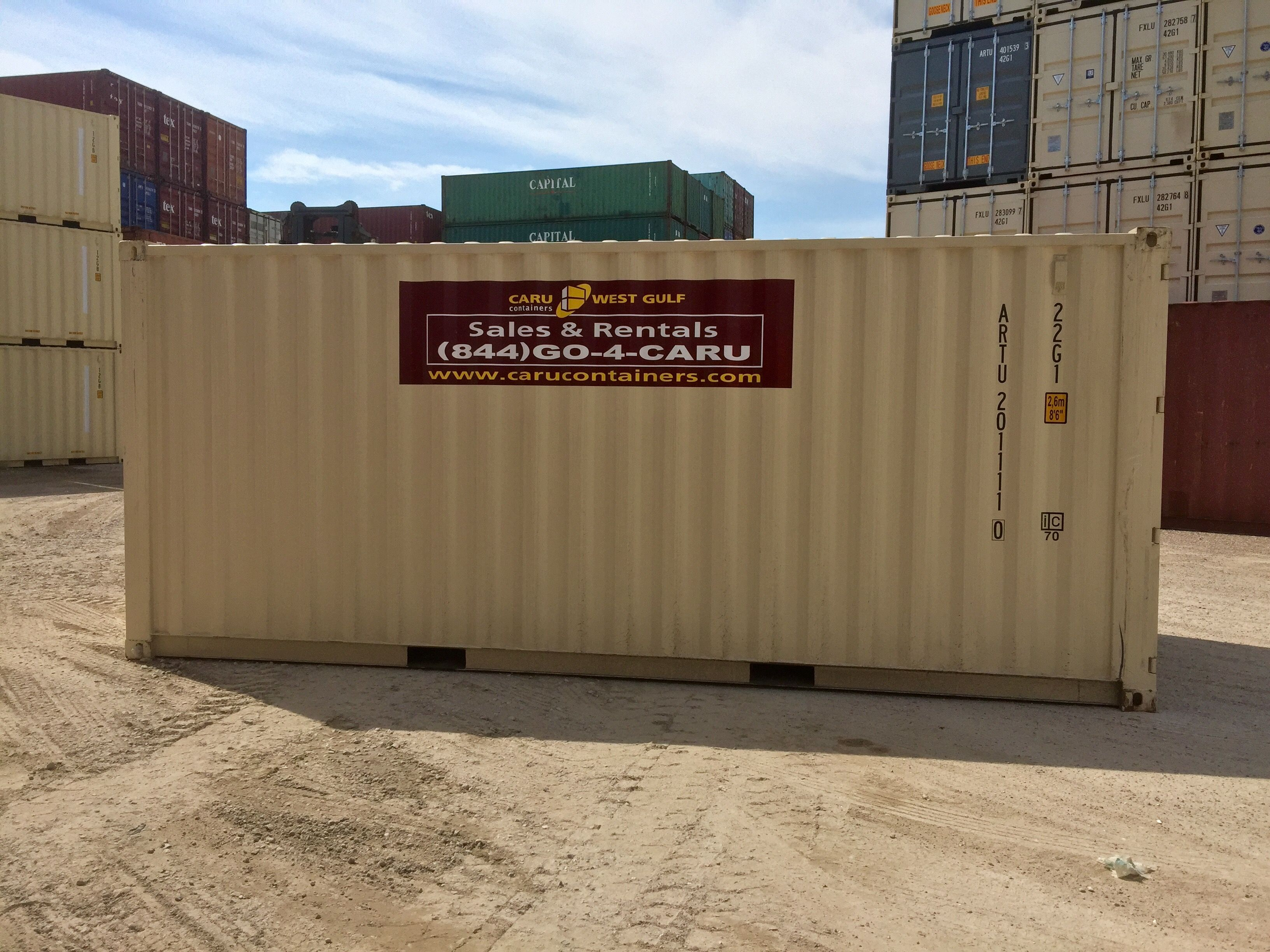 Caru West Gulf Containers Rentals 20 Storage Container Image