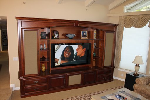 Custom Media Center - Creative Cabinets & Design Inc.