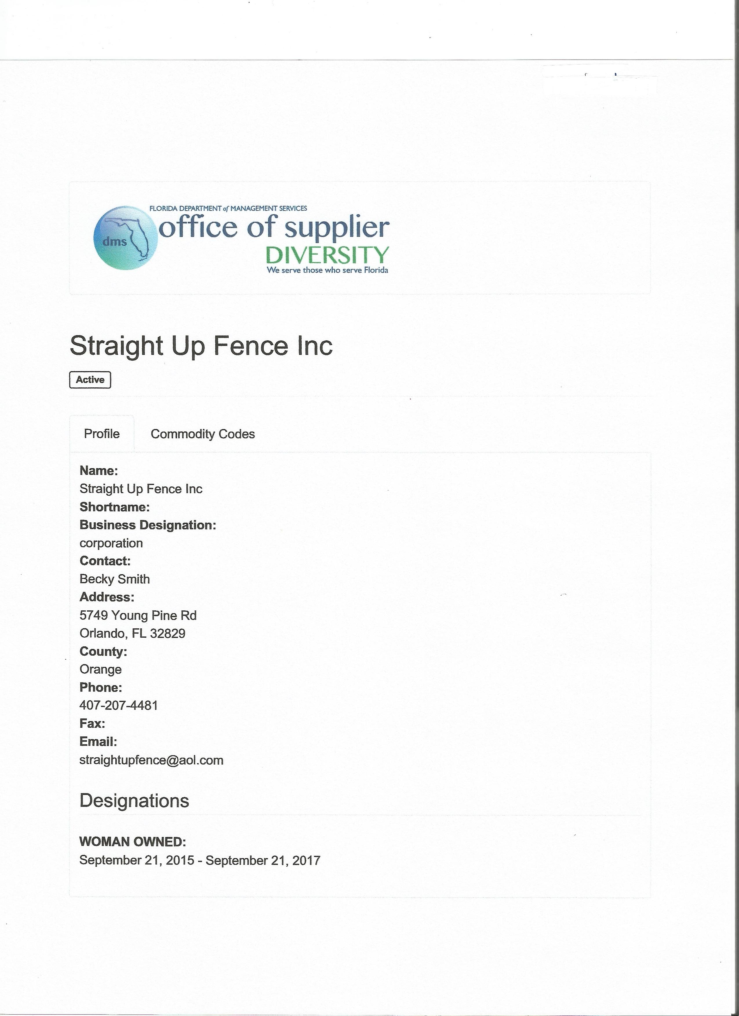 Straight Up Fence Inc Licenses Insurance Bonding