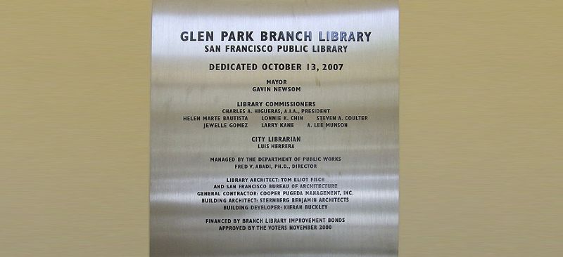 Glen Park Branch Library Photo 1 - Lahue and Associates