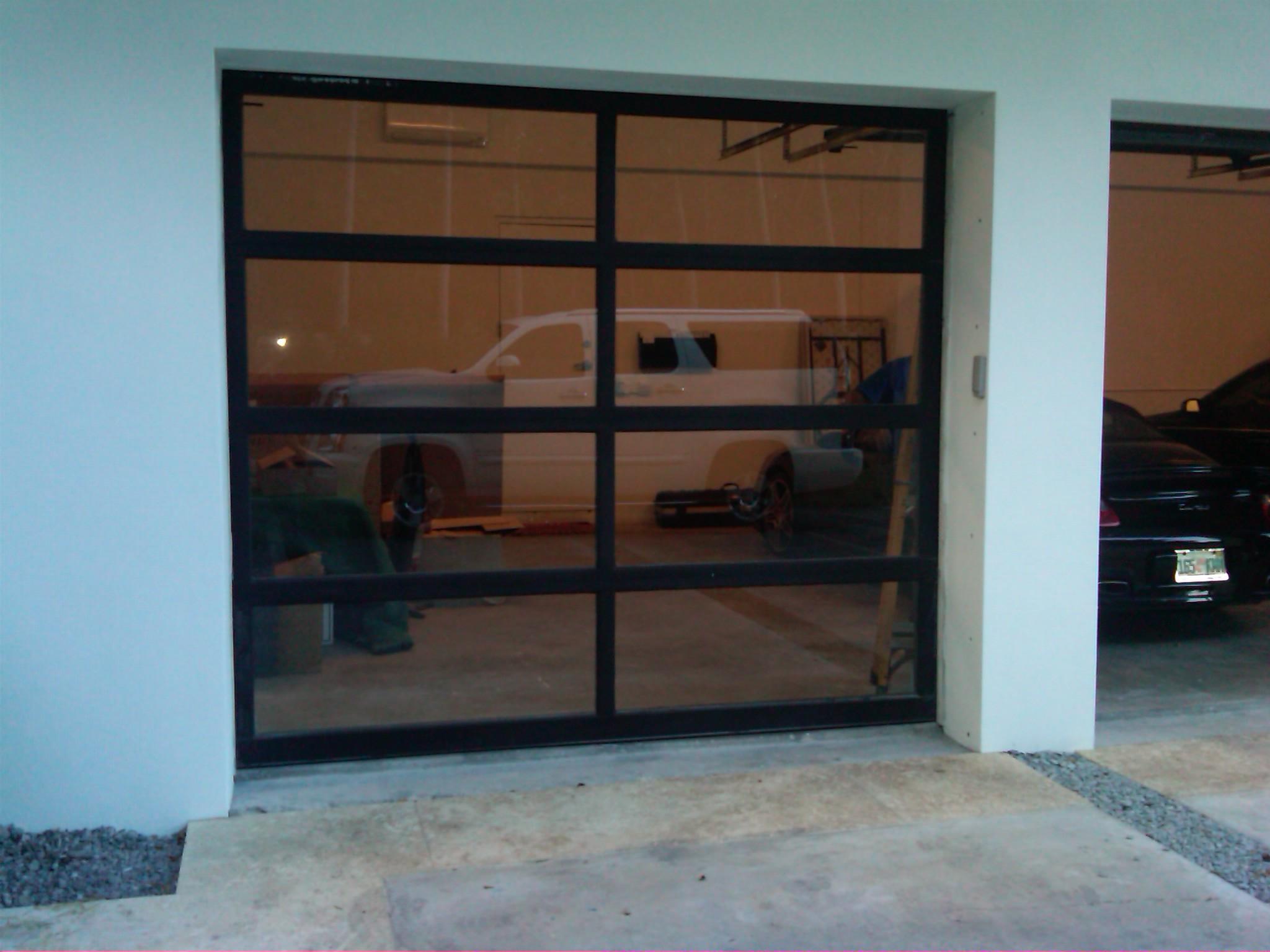 Glass overhead doors - 6806 Clear Glass Garage Door John S Garage Door Display Image Of Glass Overhead Doors 2048 1536