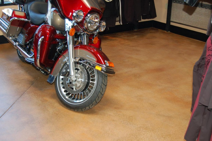 Retail Floor Acid Stain Seal - Quality Sealants, Inc.