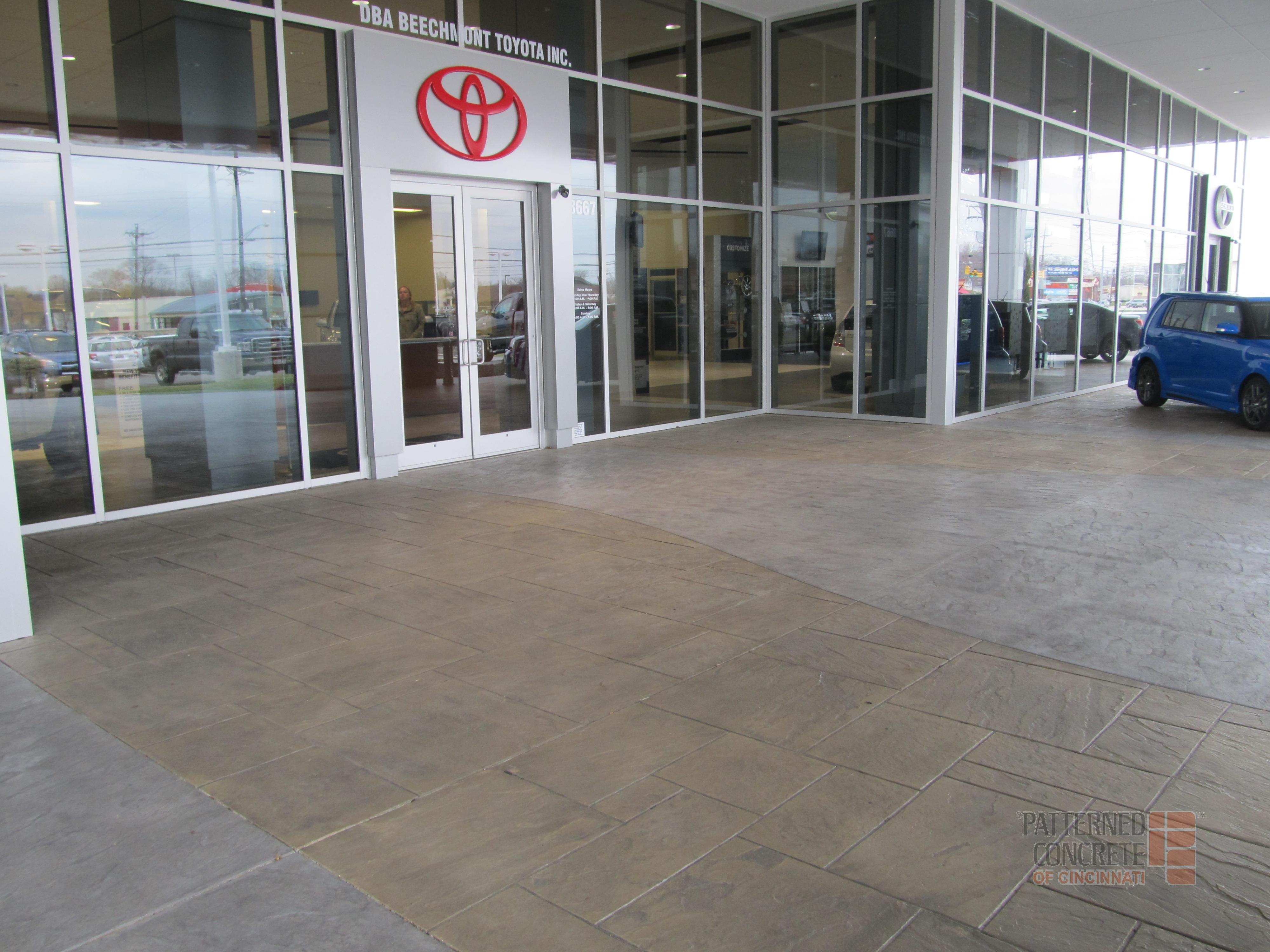 Patterned Concrete Of Cincinnati Inc Beechmont Toyota Image